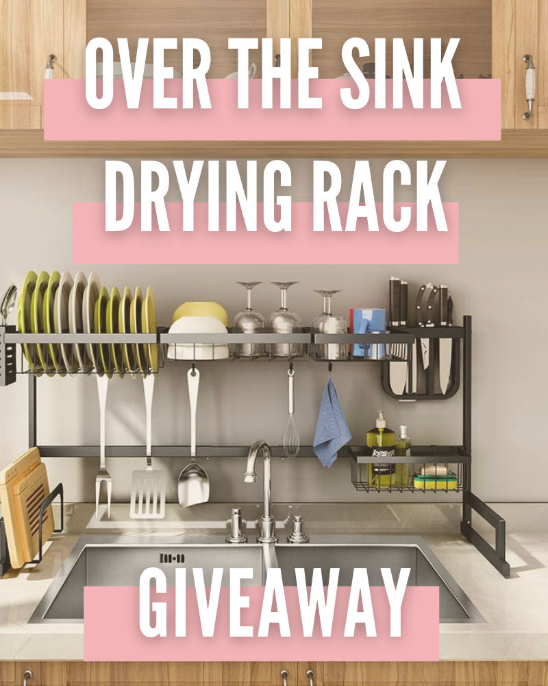 Over The Sink Dish Drying Rack GiveawayEnds in 32 days.
