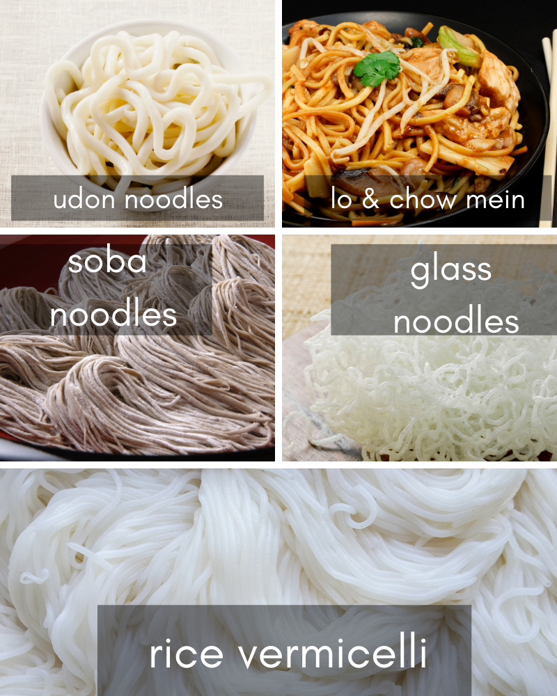 different kinds of asian noodles