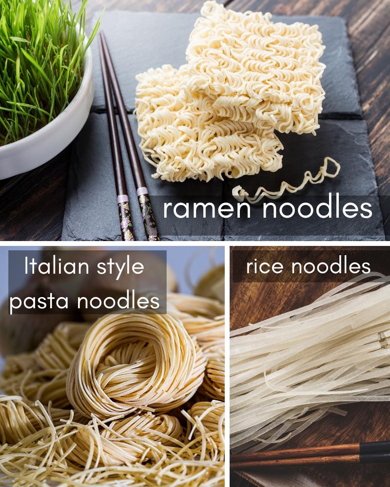noodle varieties.