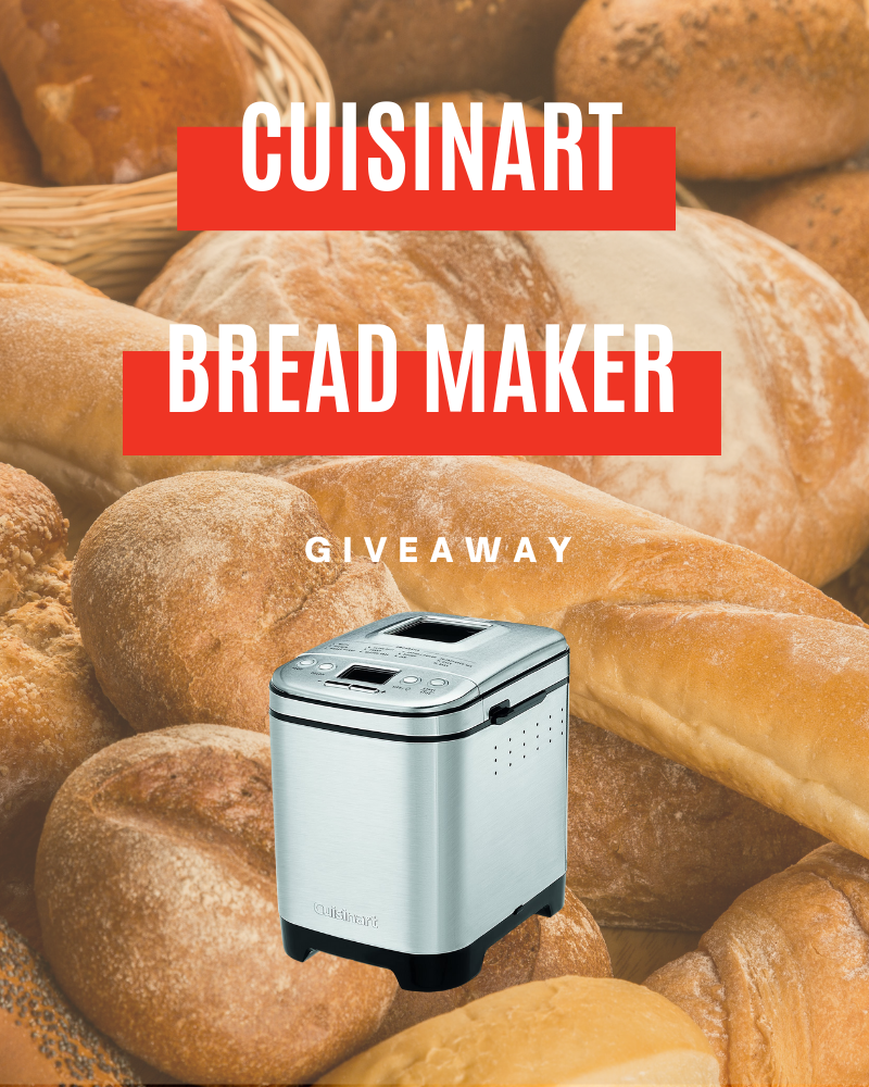 Cuisinart Bread Maker GiveawayEnds in 70 days.