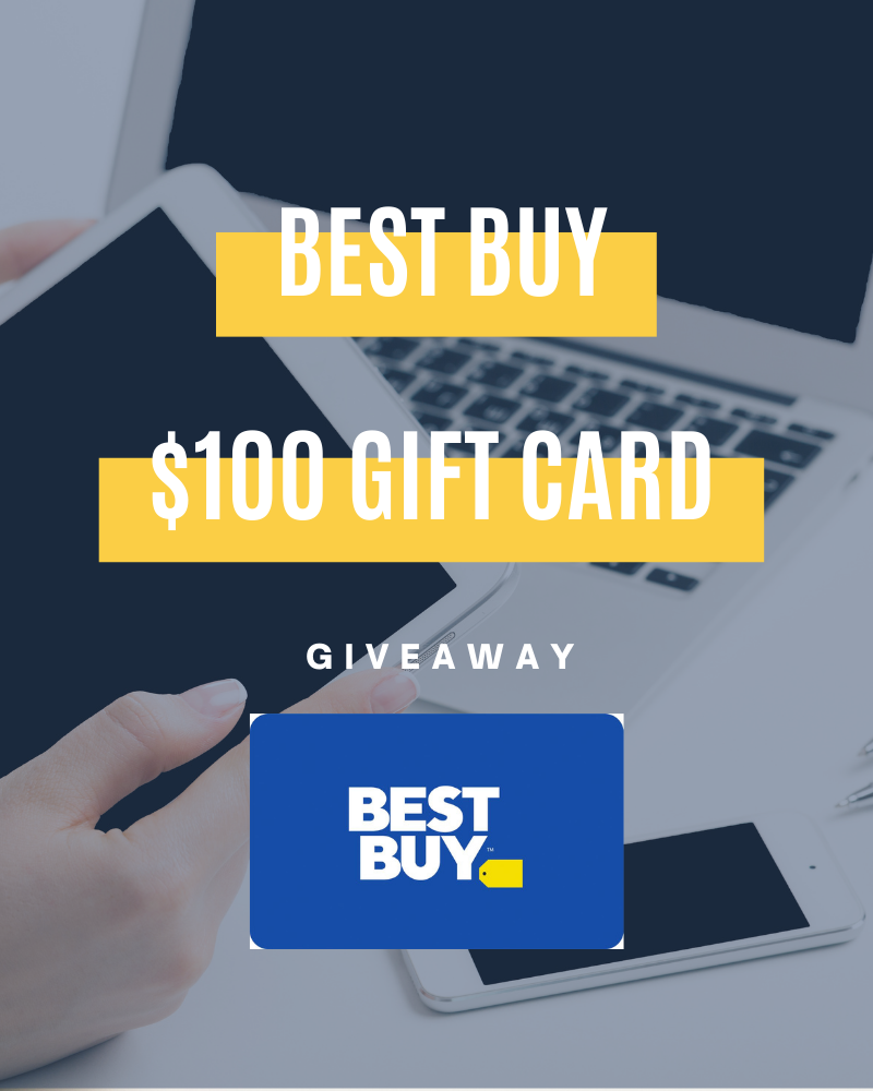 Best Buy $100 Gift Card GiveawayEnds in 45 days.