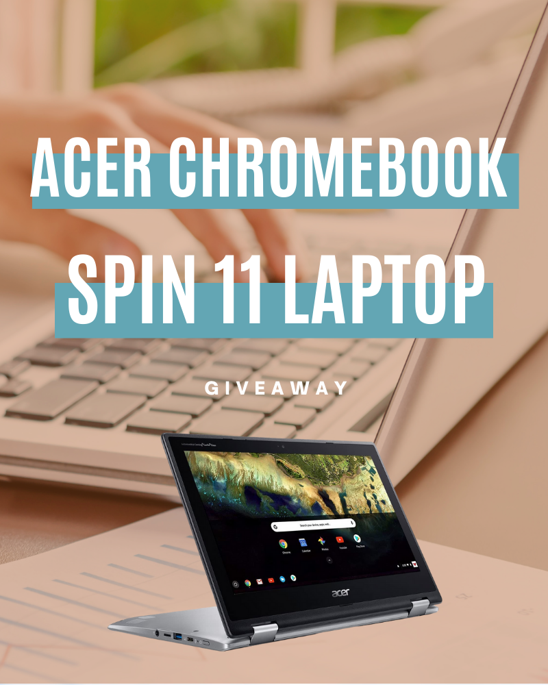 Acer Chromebook Spin 11 Laptop GiveawayEnds in 50 days.