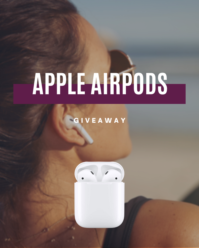 Apple AirPods GiveawayEnds in 50 days.