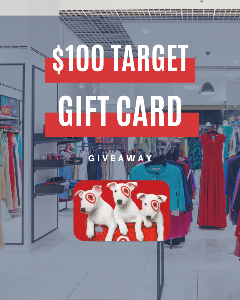 Target $100 Gift Card GiveawayEnds in 20 days.