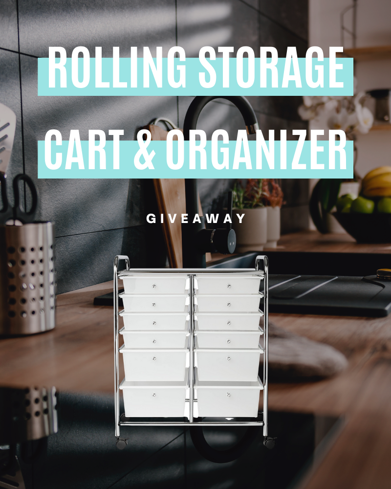 Honey-Can-Do Rolling Storage Cart and Organizer GiveawayEnds in 53 days.