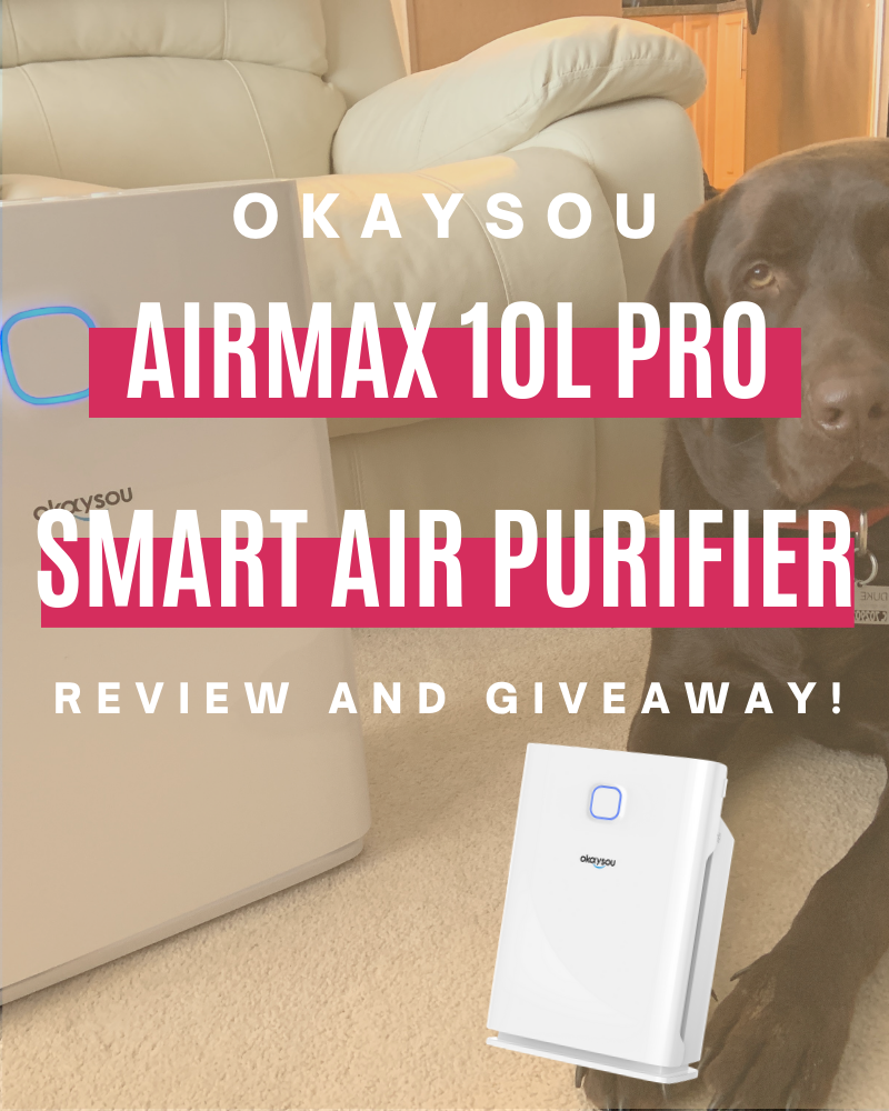 Okaysou AirMax10L Pro Smart Air Purifier Review and GiveawayEnds in 30 days.
