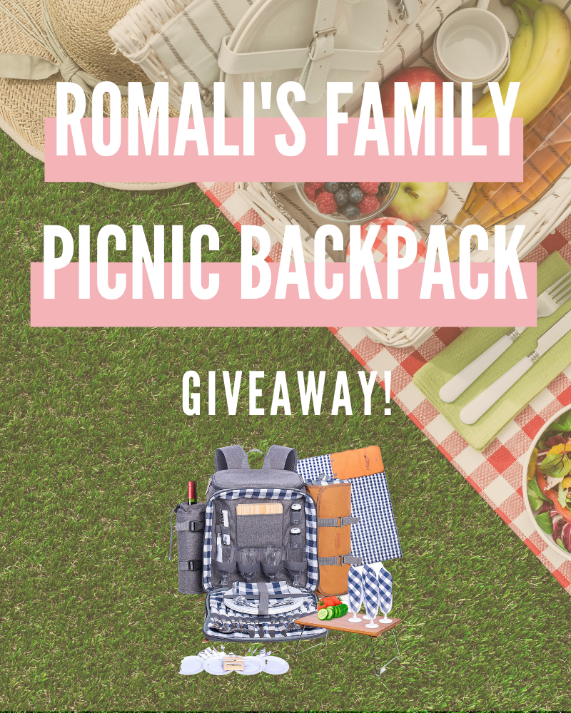 Romali's Family Picnic Backpack for 4 GiveawayEnds in 74 days.