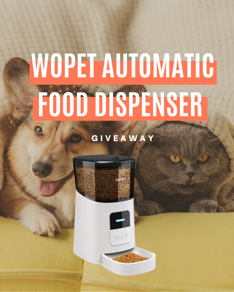 WOPET Automatic Food Dispenser GiveawayEnds in 30 days.