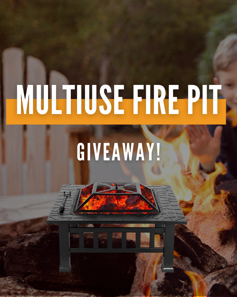 Outdoor Multi Use Fire Pit GiveawayEnds in 80 days.