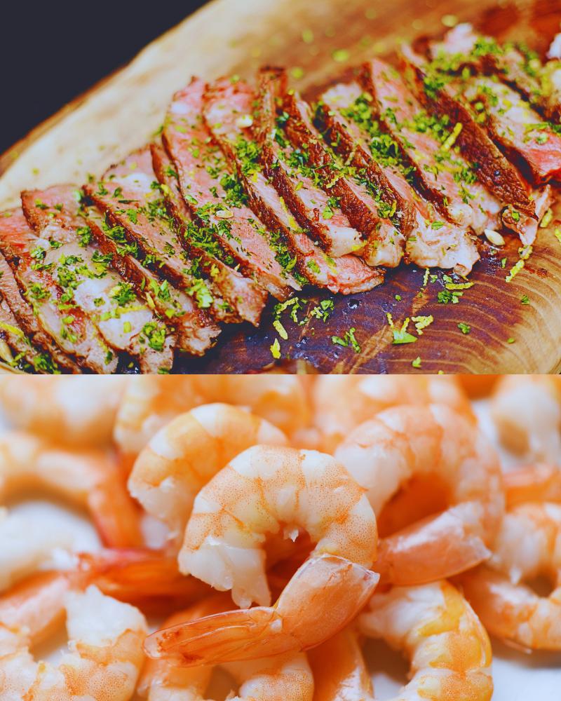 shrimp and flank steak
