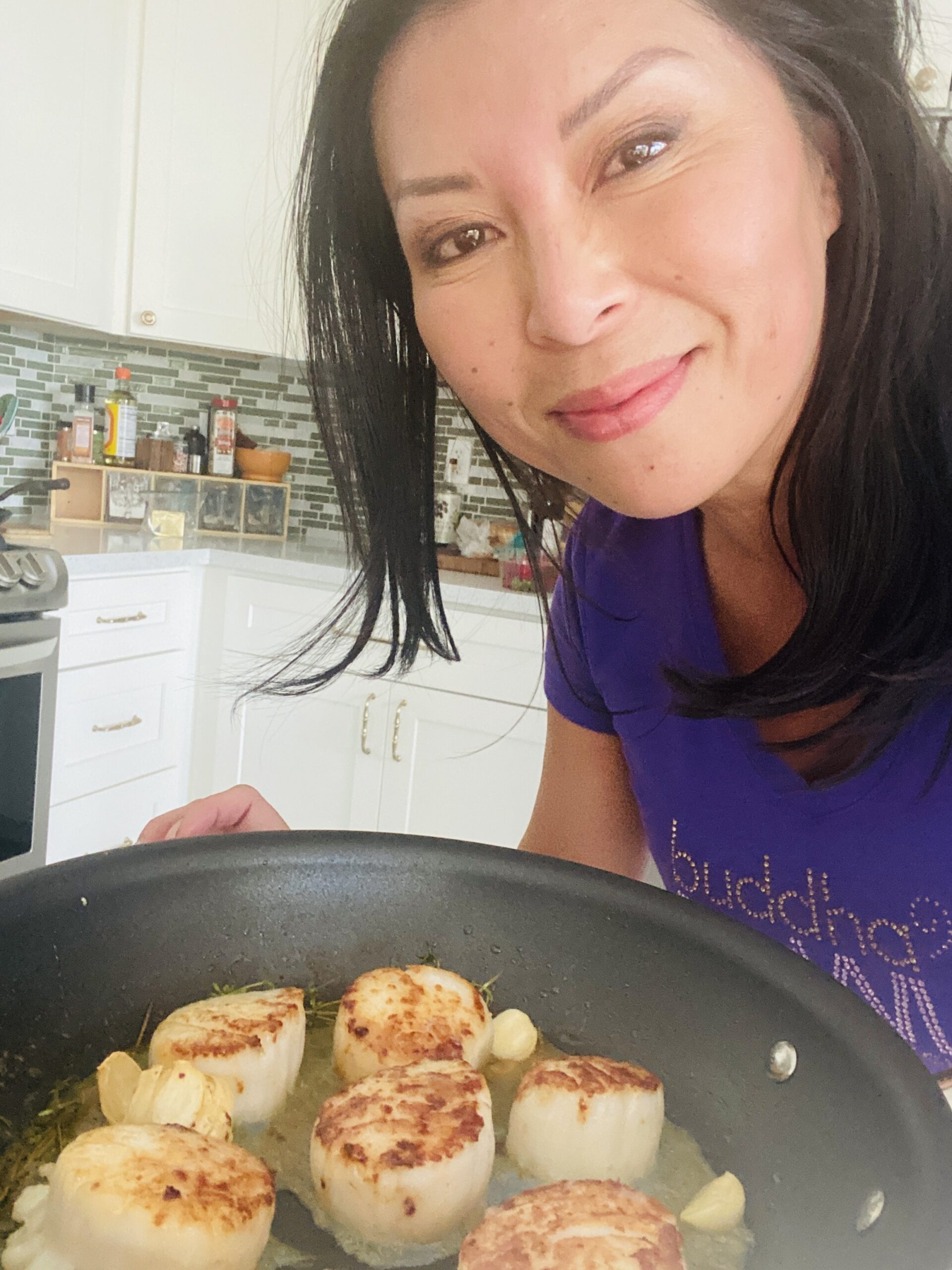 Hestan Cue Review Cooking Scallops