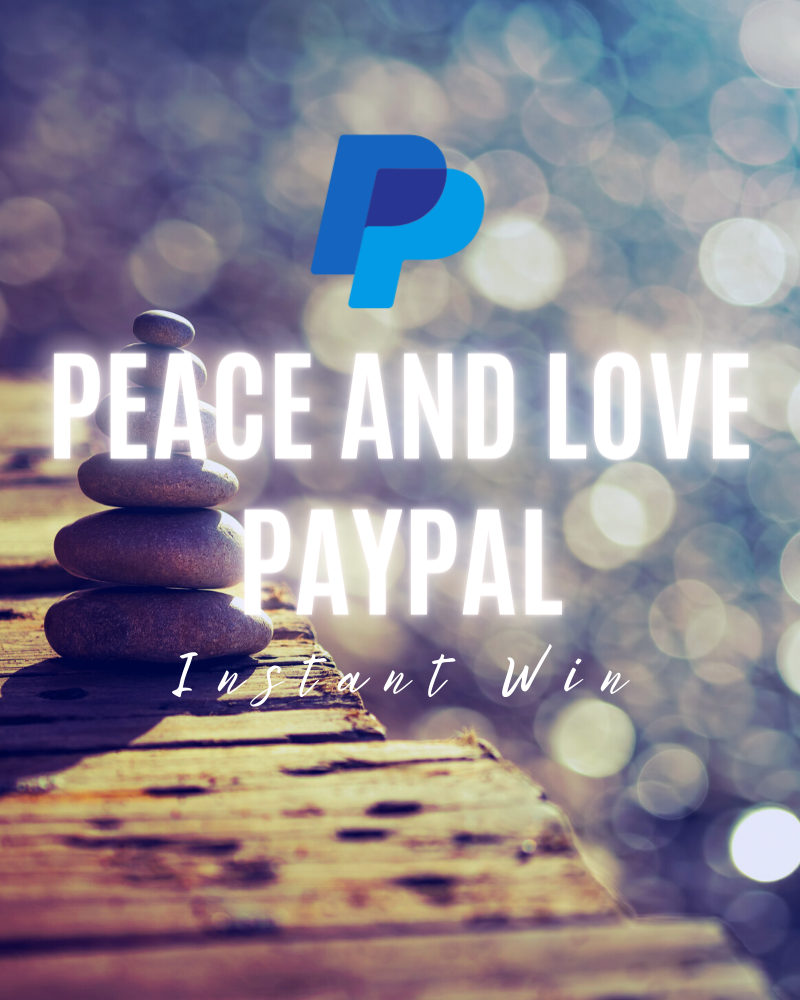 Peace and Love PayPal Instant Win GameEnds in 87 days.