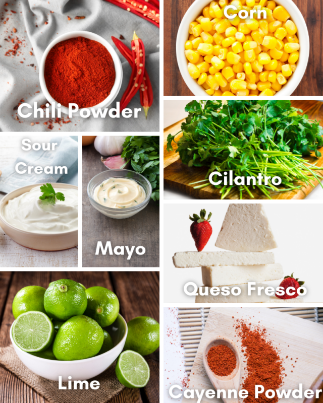 Ingredients for Elote.