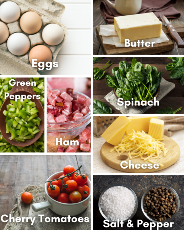 Ingredients for frittata.