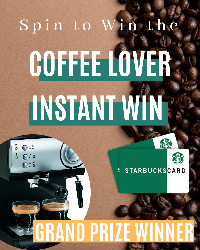 Coffee Lover Starbucks Instant Win GameEnds in 73 days.