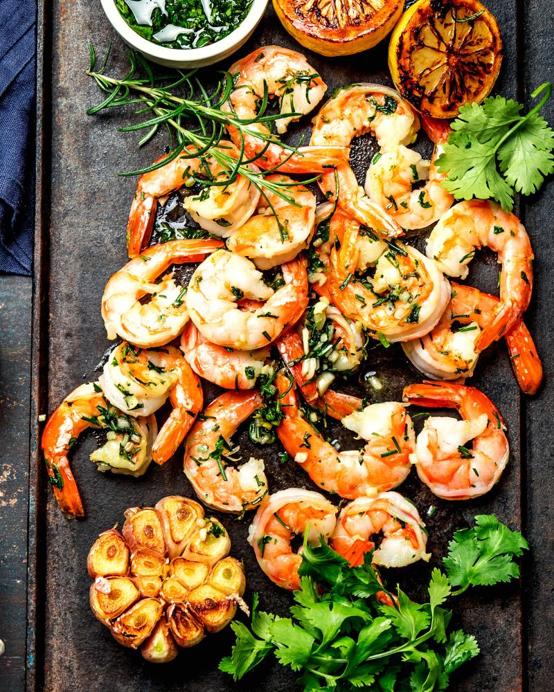 Garlic Shrimp in the Microwave