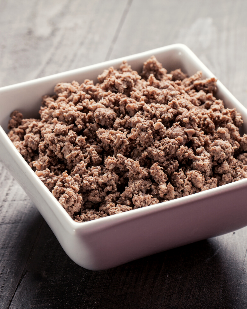 Ground beef in the Microwave