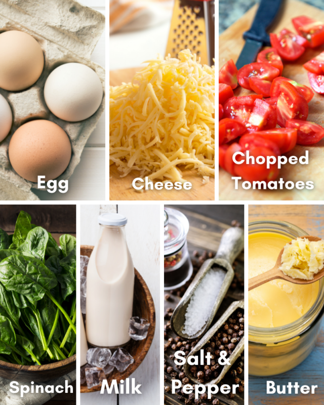 ingredients for microwave quiche
