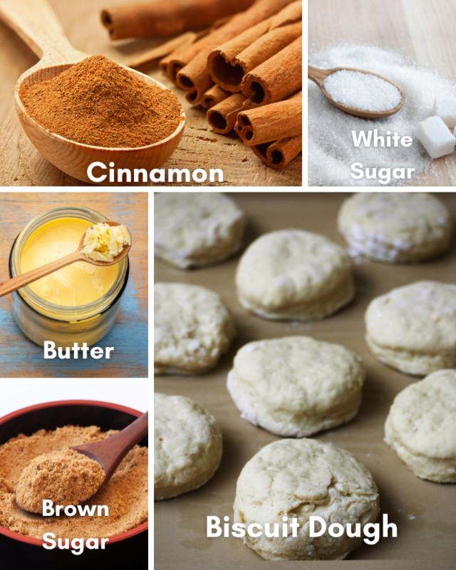ingredients for monkey bread.