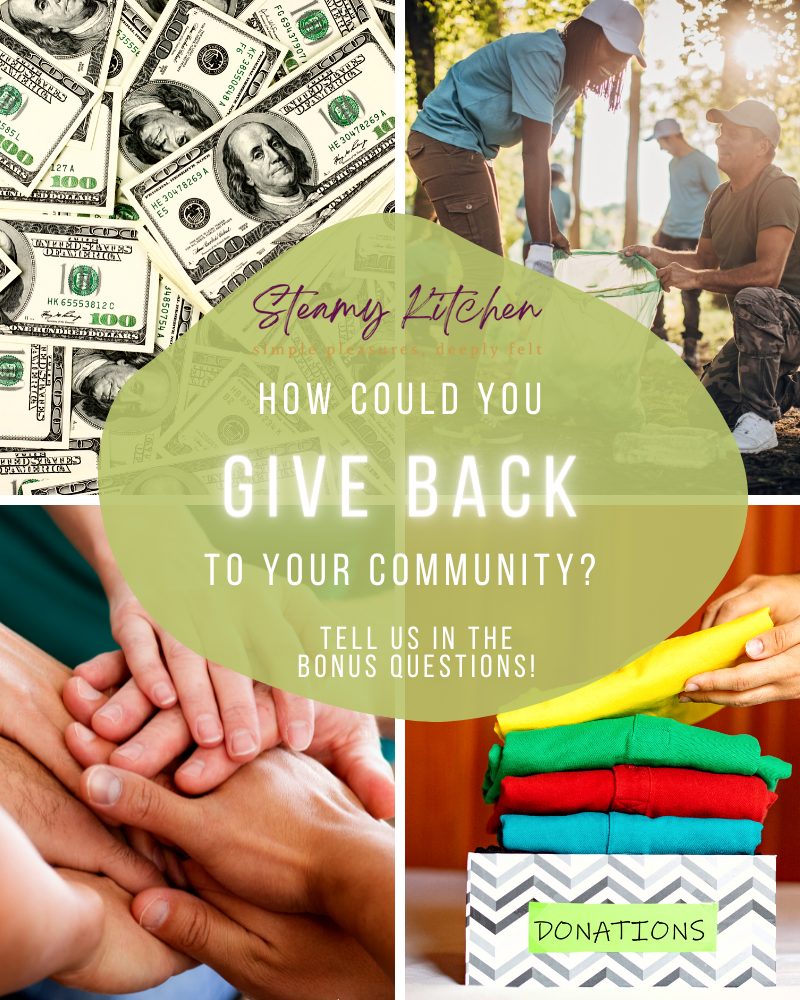 how could you give back to your community