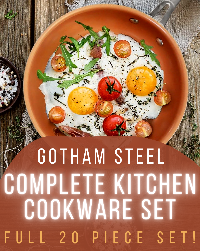 gotham steel complete kitchen cookware set giveaway
