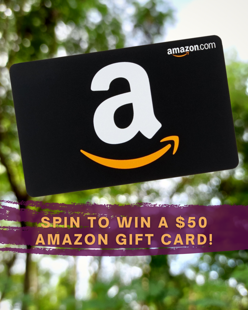 spin to win a $50 amazon gift card