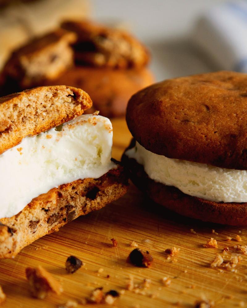 bake cookies to make an ice cream sandwich