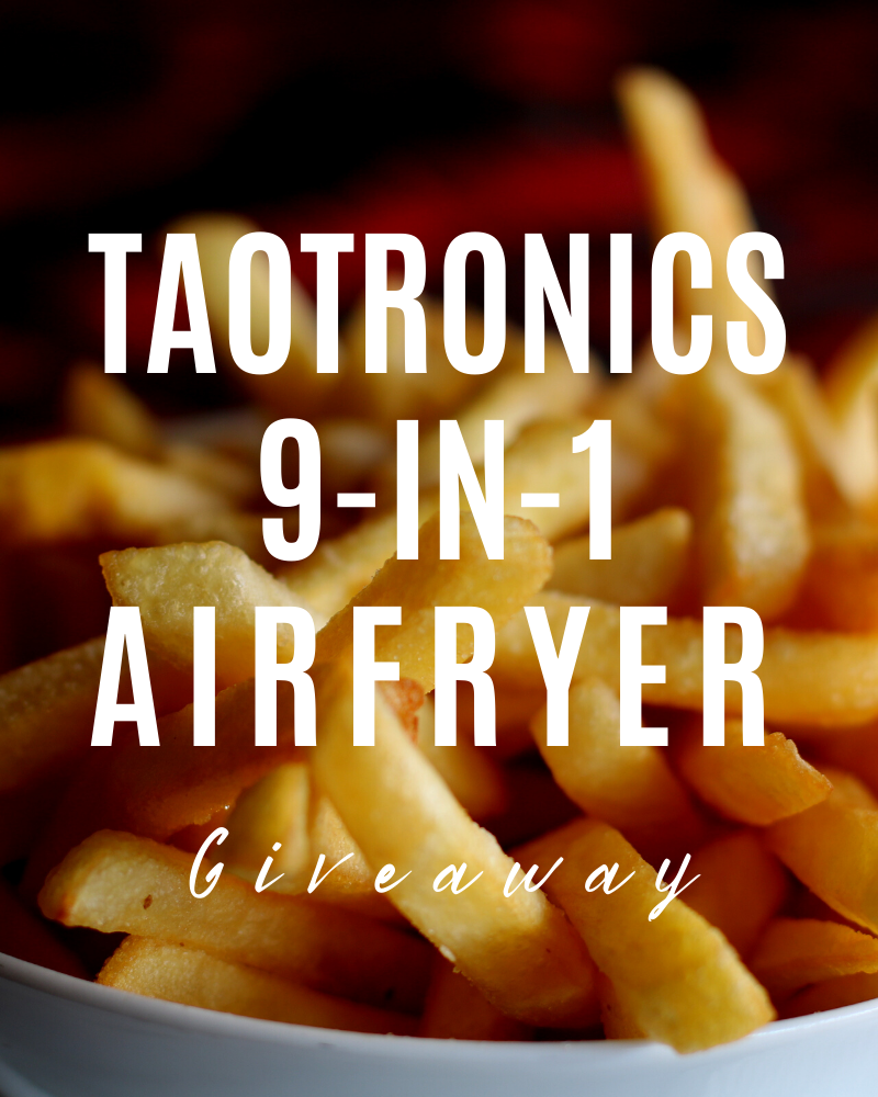 TaoTronics Air Fryer Review and GiveawayEnds in 70 days.