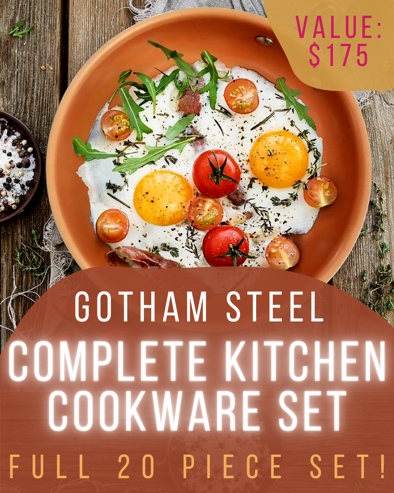 20 Piece Pots and Pans Set GiveawayEnds in 47 days.