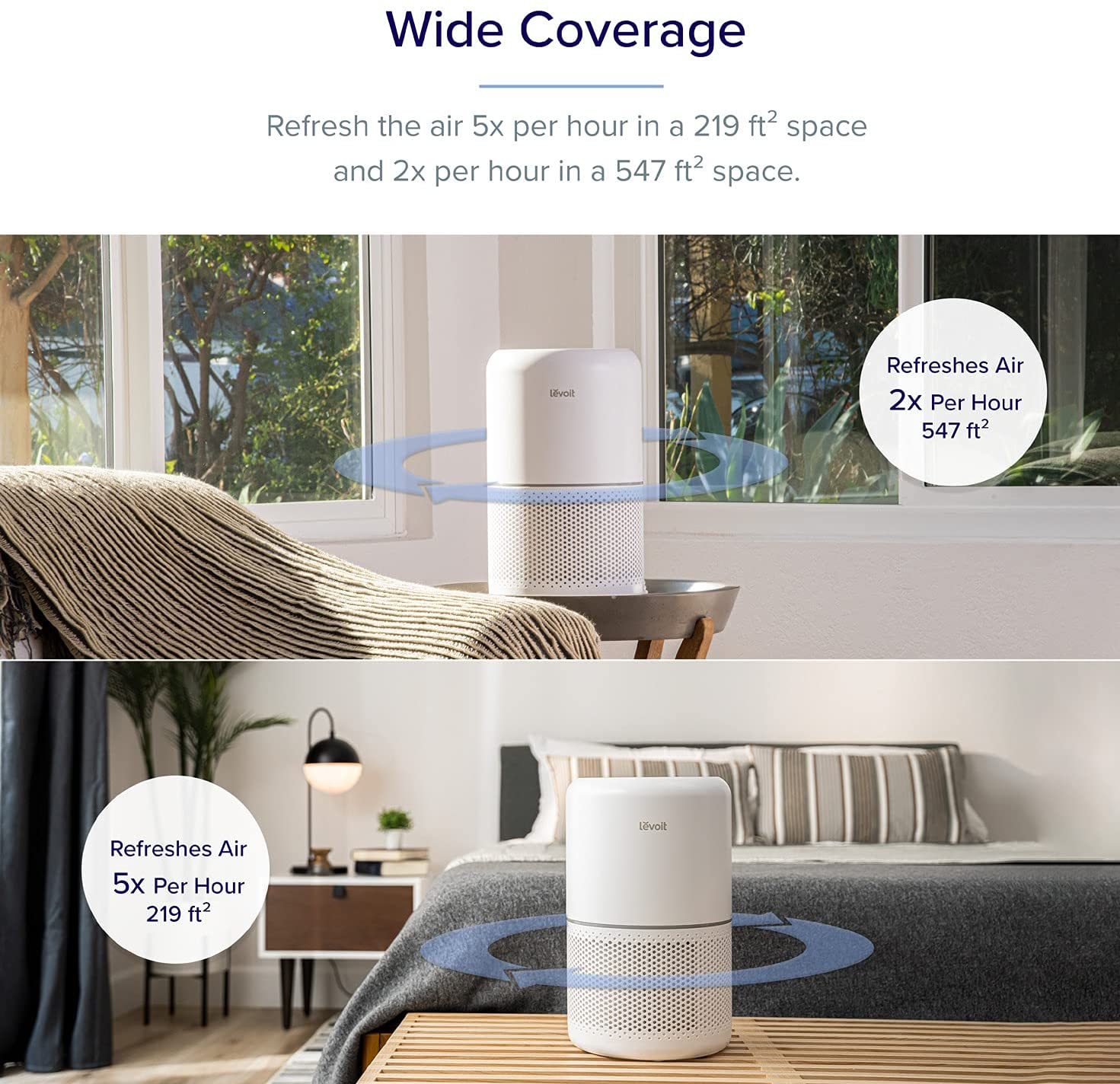 levoit air purifier simple and modern design