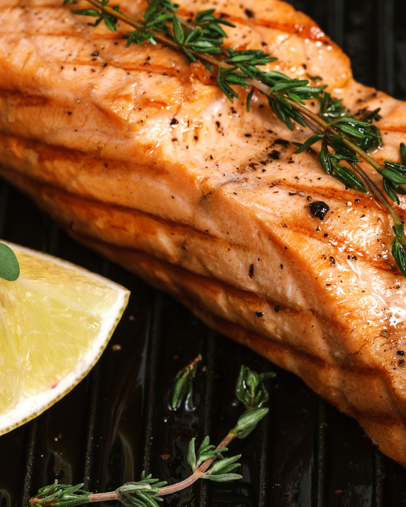 choose fish as a healthy protein option