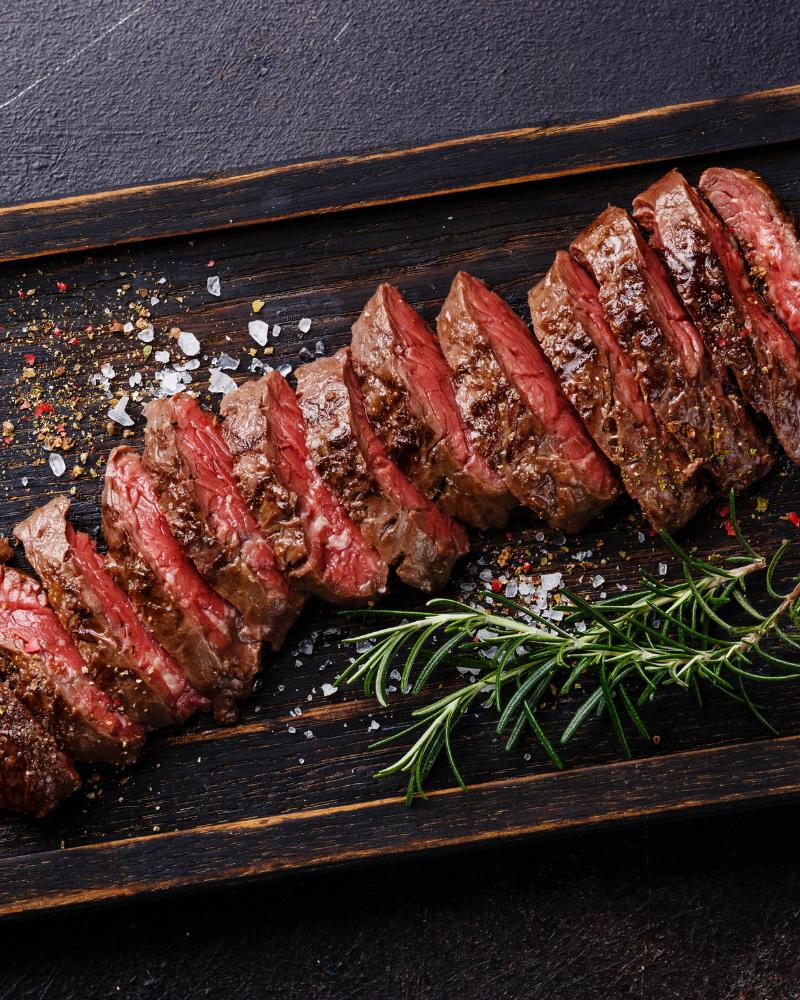 indulge in a steak dinner
