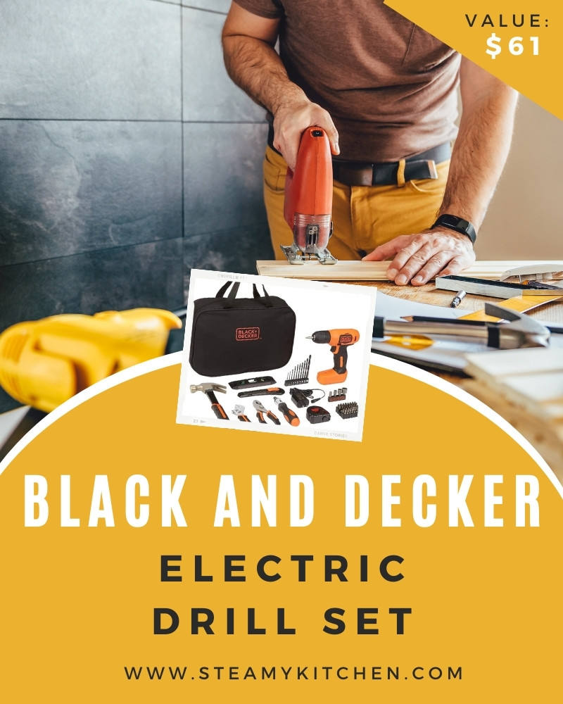 Black and Decker Electric Drill Set Giveaway