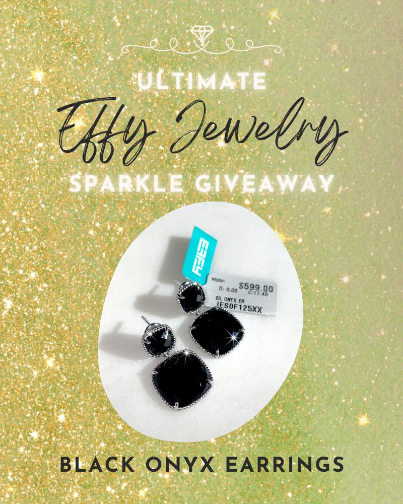 Ultimate Effy Jewelry Giveaway: Black Onyx Earrings