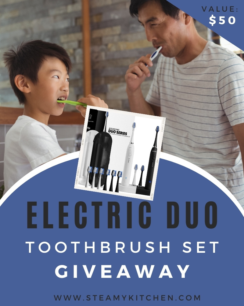 Electric Duo Toothbrush Set Giveaway