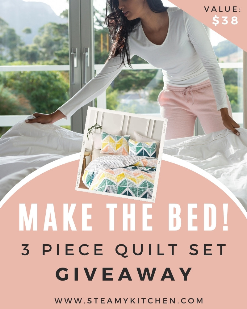 Make The Bed! 3 Piece Quilt Set Giveaway