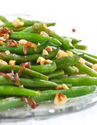 Green Beans with Browned Butter and Hazelnuts