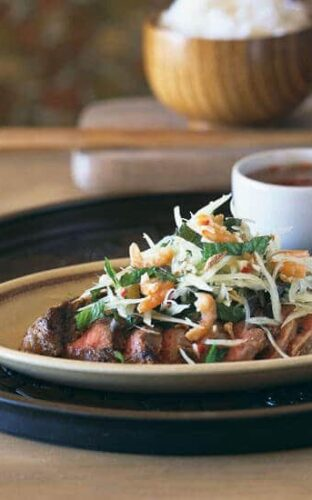 Red Lantern Grilled Sirloin with Chile, Garlic, and Ginger
